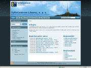 Home page screenshot of TyfloCentrum Liberec. Click to open the pages in a new window.